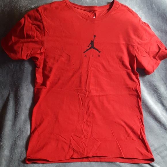 a8359cca534 Jordan Shirts | Air Red T Tee Shirt New | Poshmark